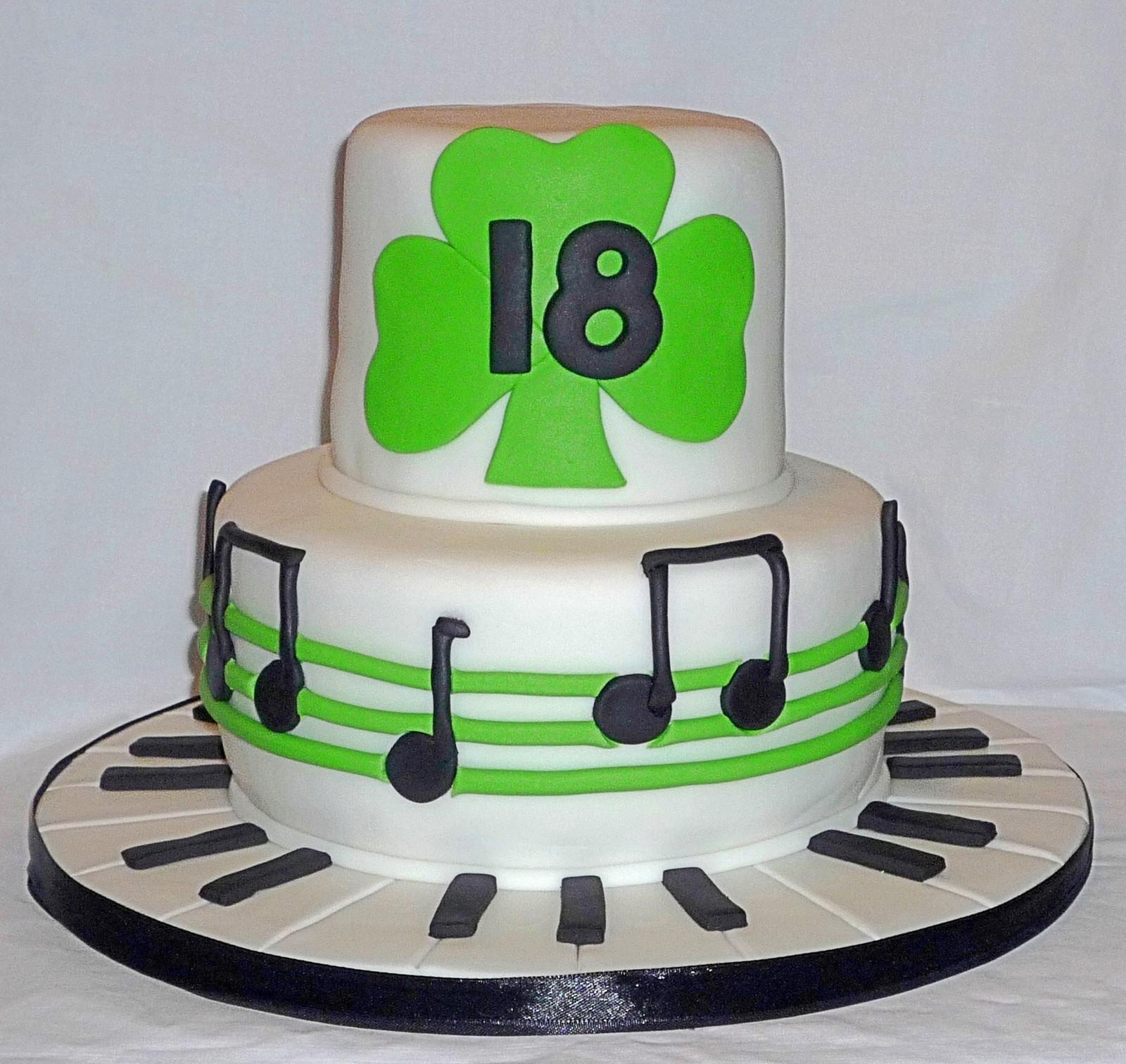 Miraculous Shamrock And Musick Birthday Cake Birthday Cards Printable Trancafe Filternl