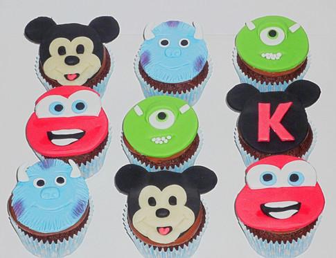 Boys Disney Character Cupcakes