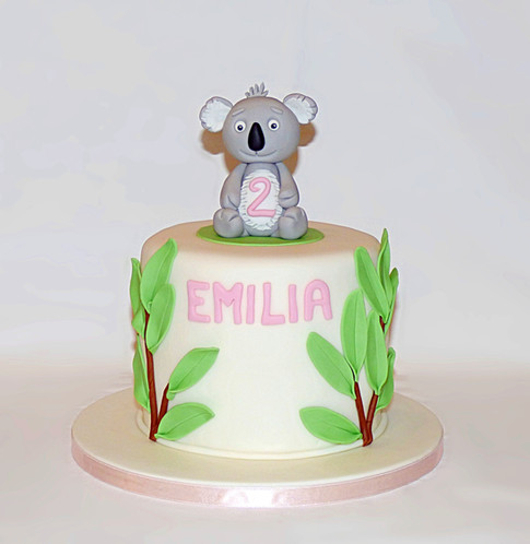 Koala birthday cake