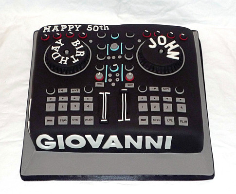 DJ Decks Birthday Cake