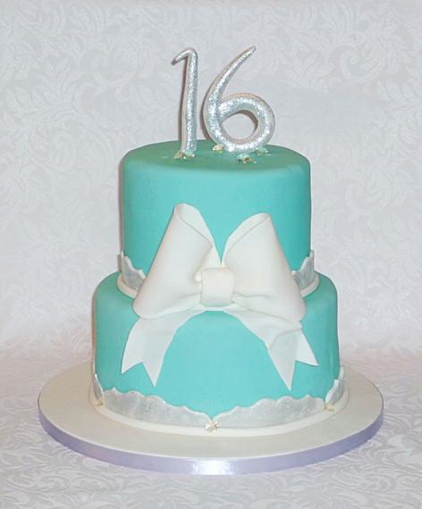 Tiffany style Sweet 16 Cake