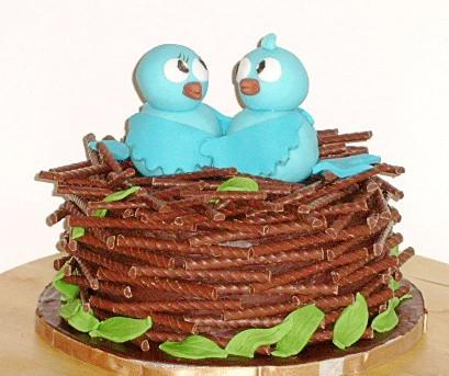 Lovebirds Nest Cake