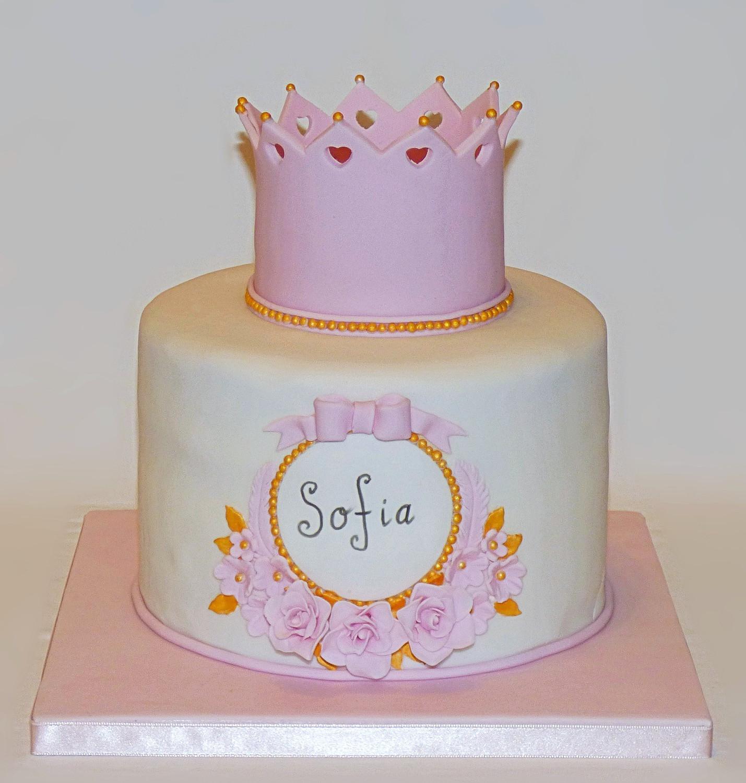Princess Crown Birthday Cake