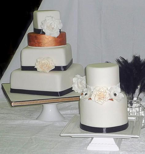 Chanel inspired Wedding Cakes