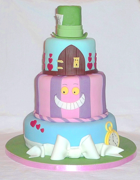 Alice in Wonderland Graduation Cake