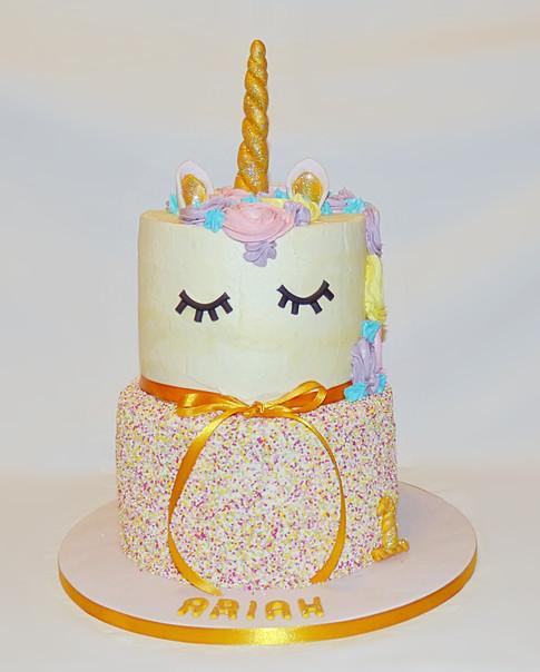 Unicorn and Sprinkles birthday cake