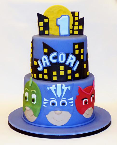PJ Masks 1st birthday cake