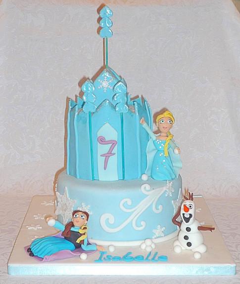 Frozen Snowball Fight Cake