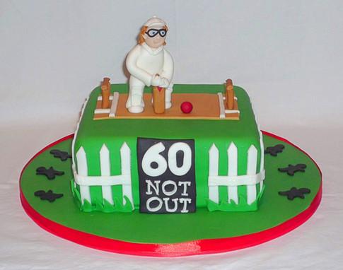 Cricketer Birthday Cake