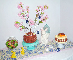 Easter Rabbits Cake Table