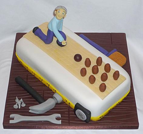 Handyman Playing Skittles Cake