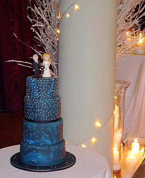 Winter Uinverse Wedding Cake