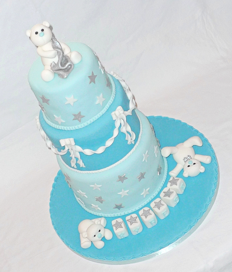 Polar Bear Christening Cake