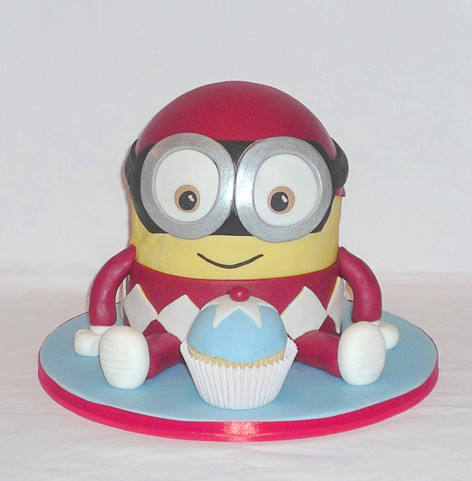 Minion Power Ranger Cake