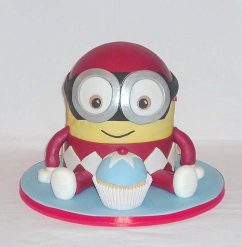 Minion Power Ranger Cake