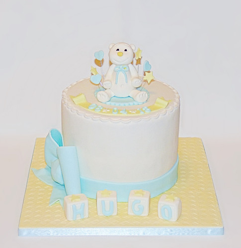 Christening Teddy Cake