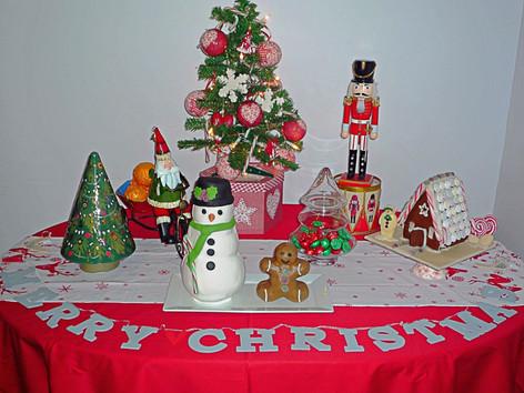 Christmas cake and dessert table