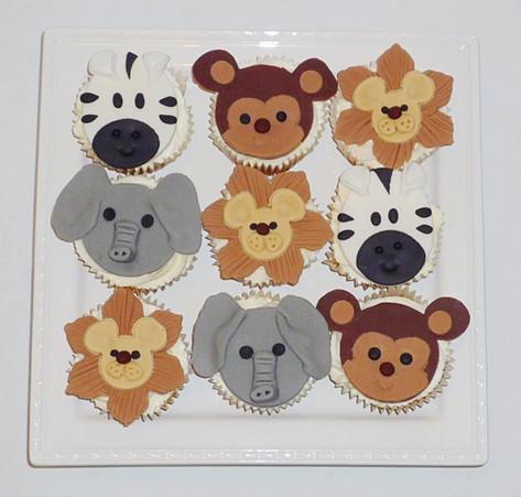 Wild Animals Cupcakes