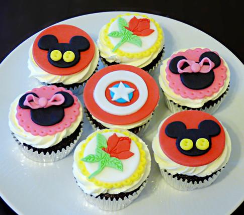 Disney Superheroes cupcakes
