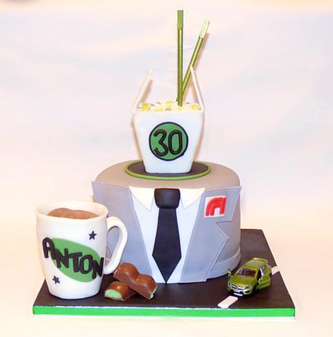Anton's Green Machine cake