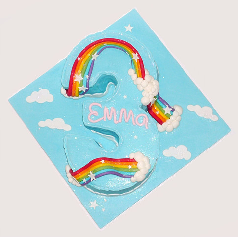 Rainbow 3 birthday cake