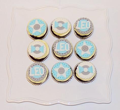 Leo's Baptism Cupcakes