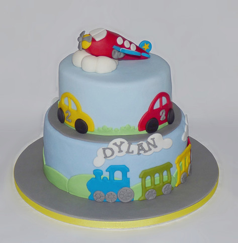 Planes, Trains and Cars cake