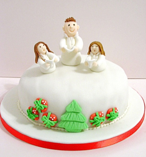 Carol singers christmas cake