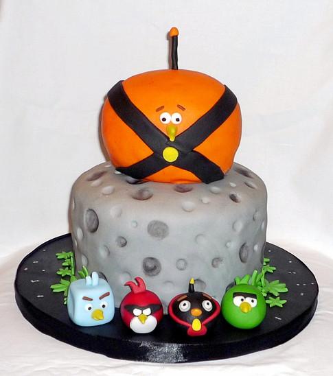Angry Birds Space Birthday Cake