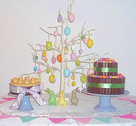 Easter eggs dessert table