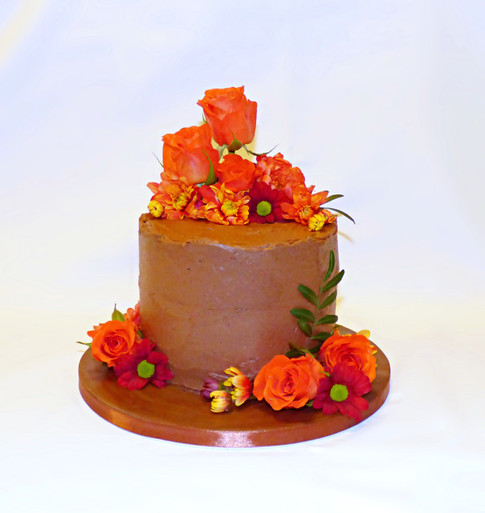Chocolate and Floral cake