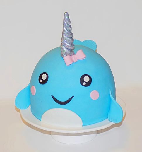 Narwhal birthday cake