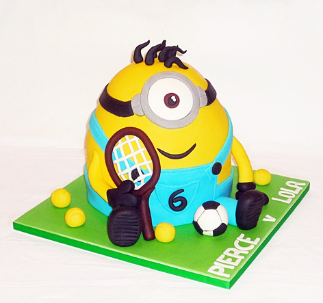 Minion Sports Star Birthday Cake