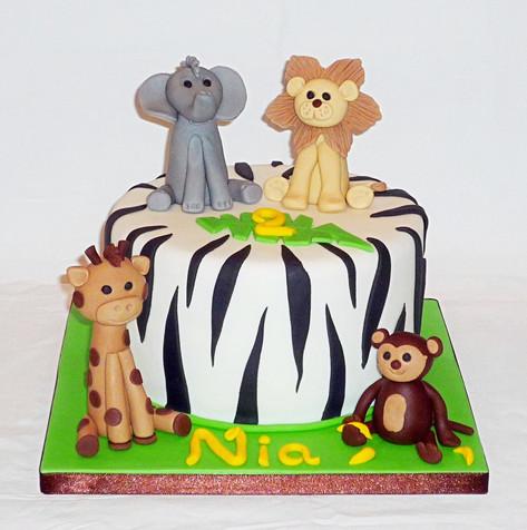 Safari Animals small cake