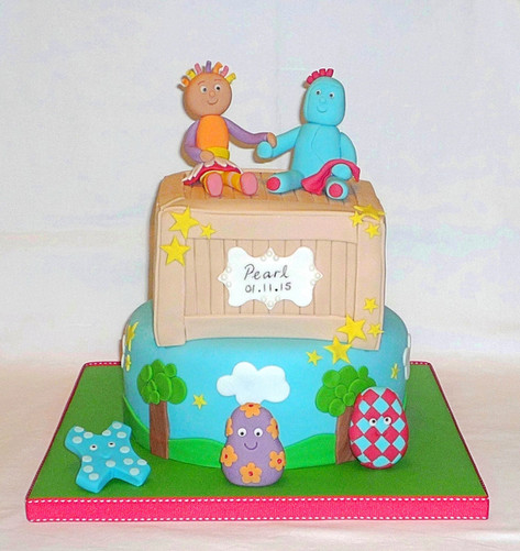 In the Night Garden Christening Cake