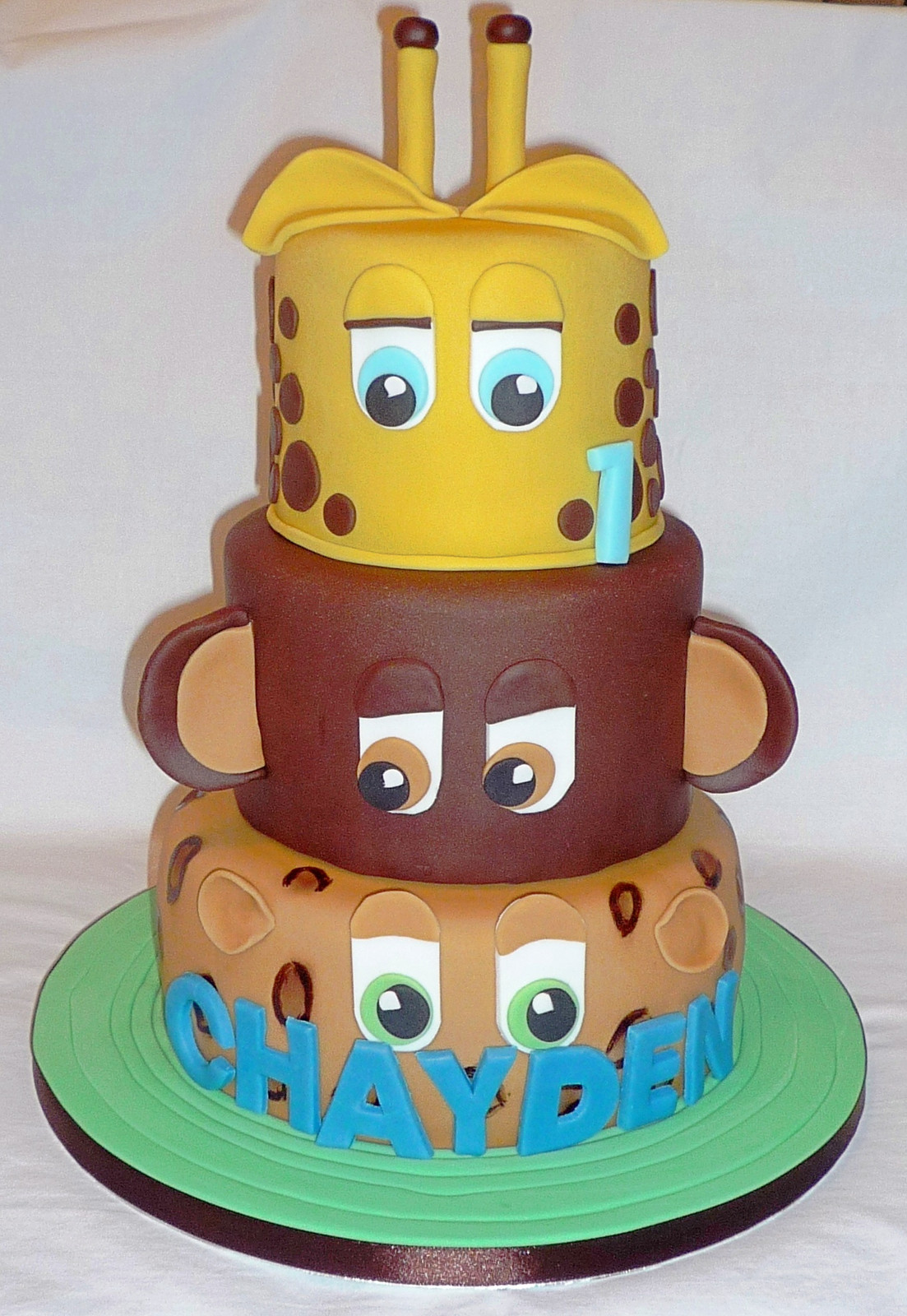 Groovy Jungle Animals Birthday Cake Funny Birthday Cards Online Benoljebrpdamsfinfo