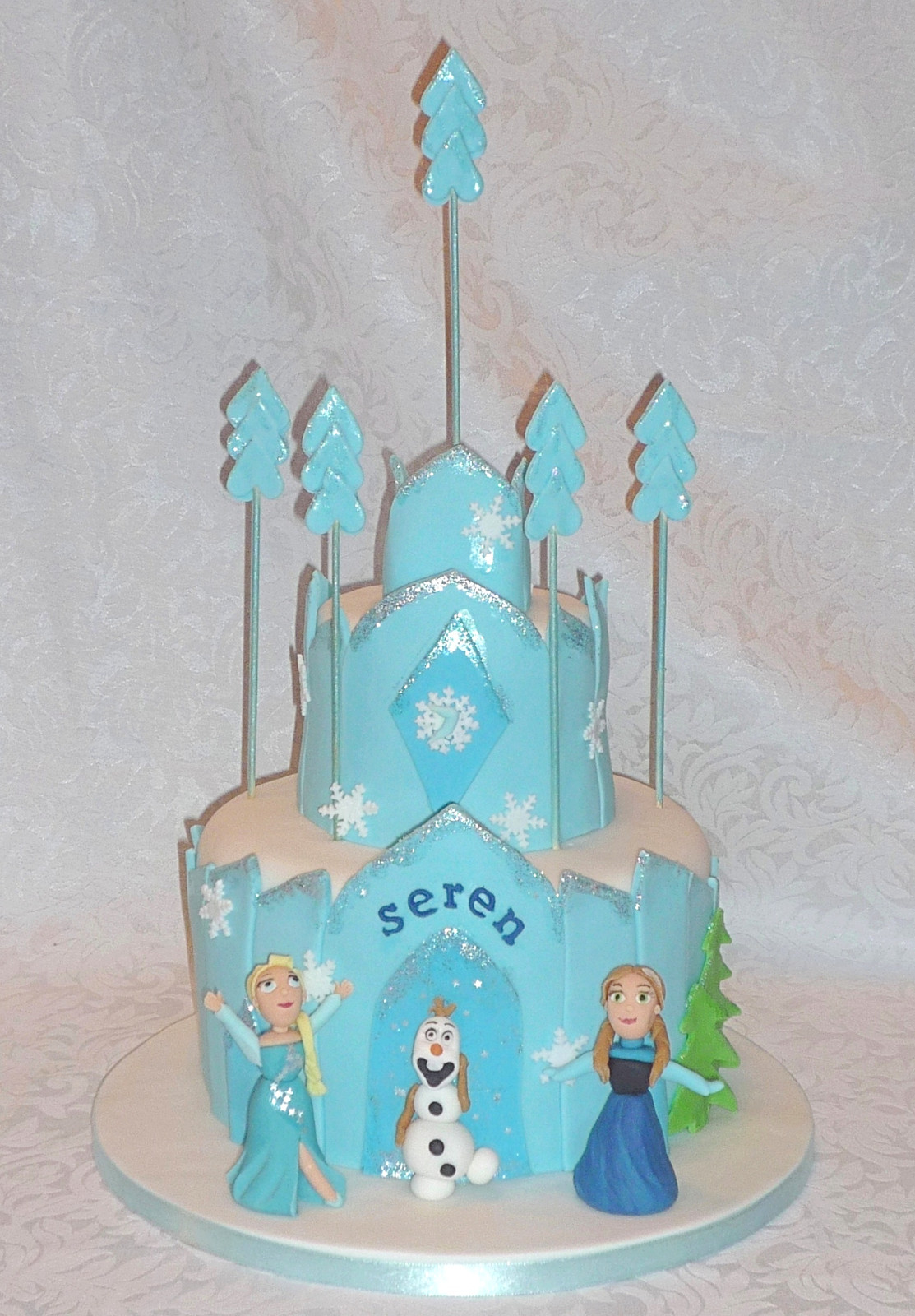 Frozen Castle Birthday Cake