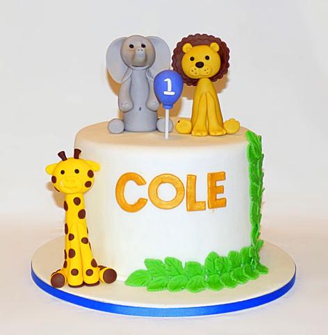 Cole's Safari Animals cake