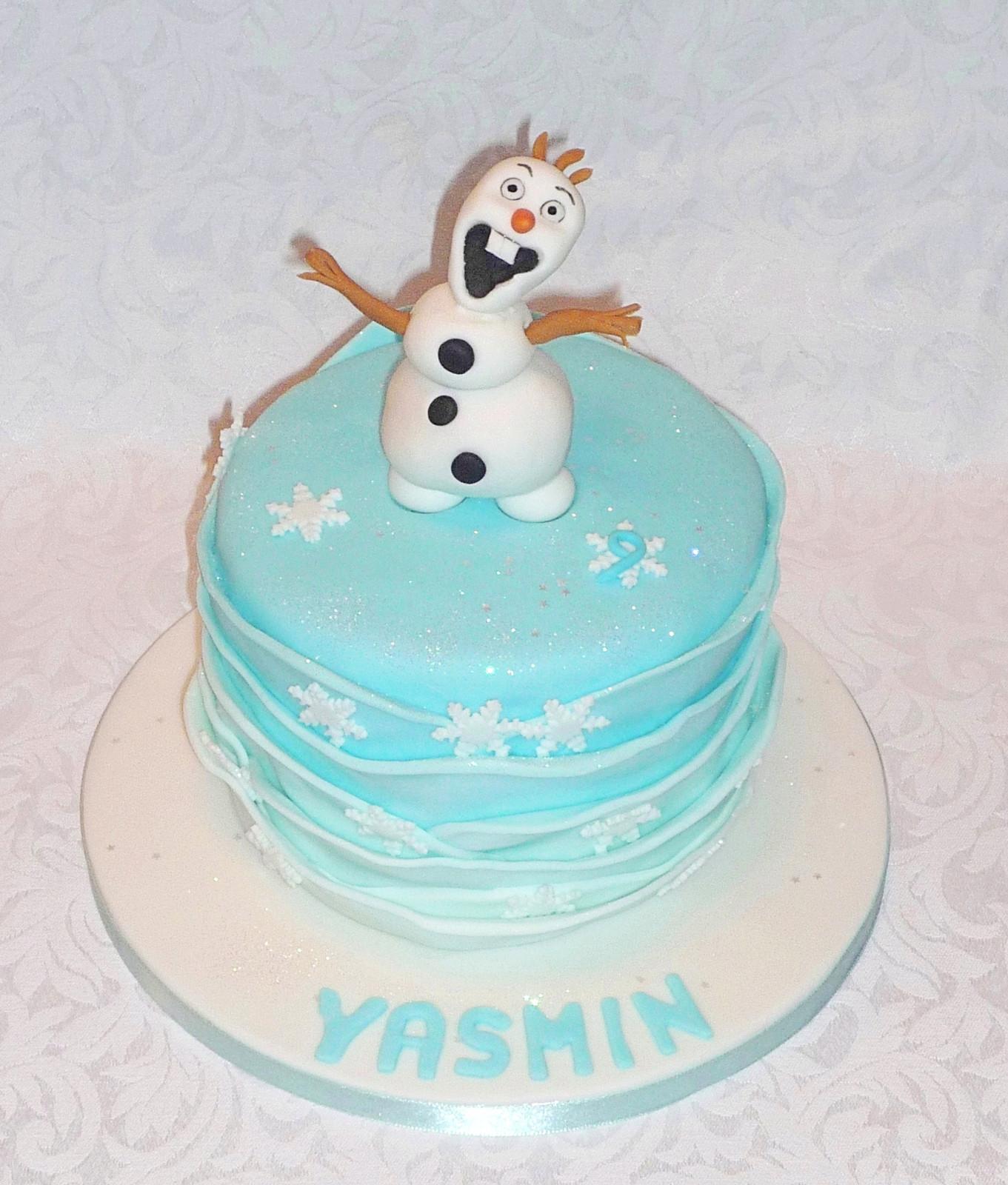 Fantastic Olaf Frozen Birthday Cake Personalised Birthday Cards Sponlily Jamesorg