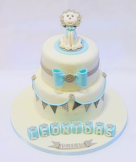Leo the Lion's Baptism Cake