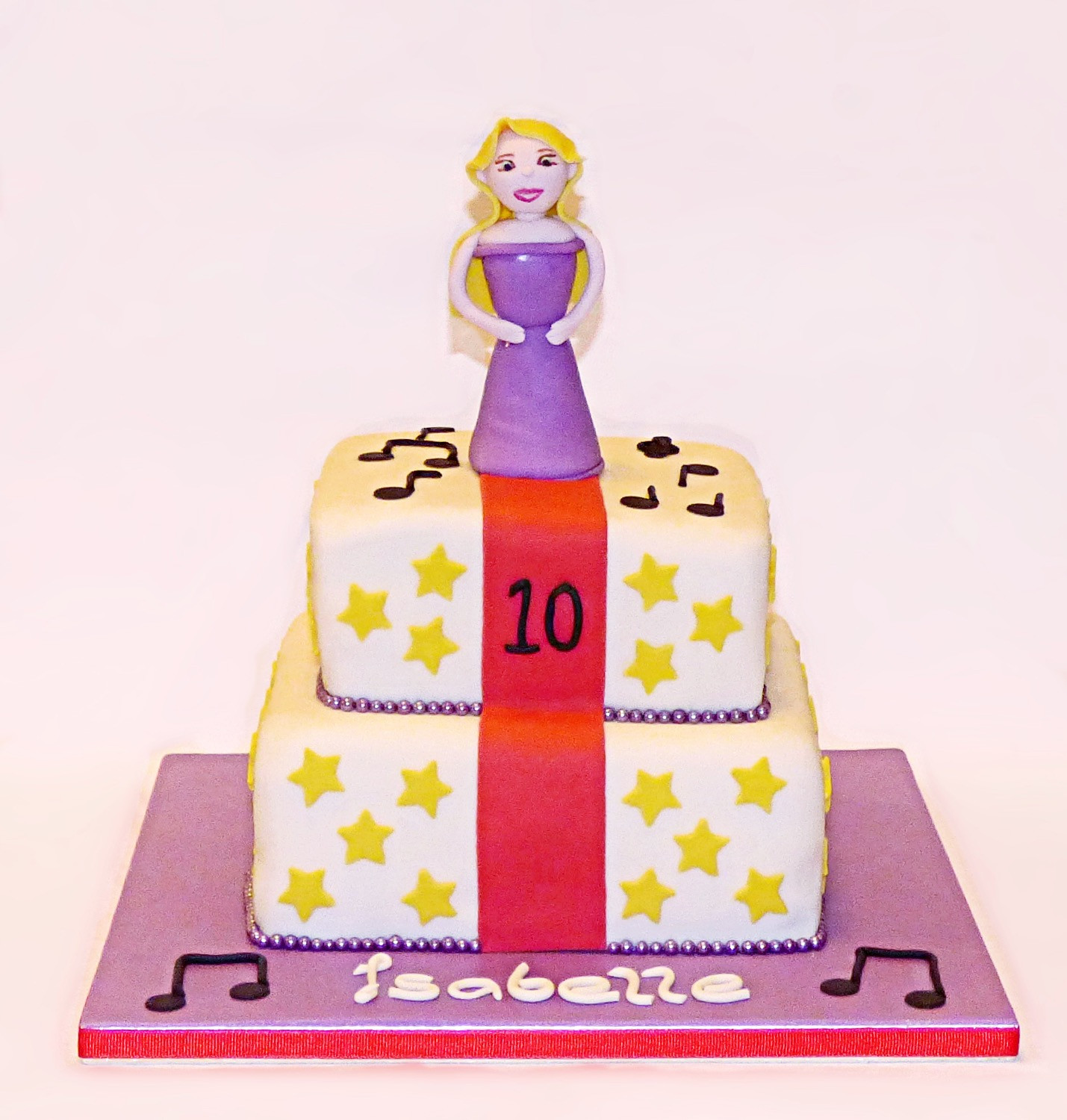 Red Carpet Singer Birthday Cake