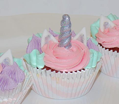 Unicorn birthday cupcake