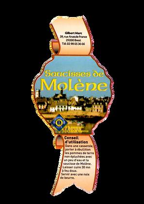 étiquette saucisse de molène
