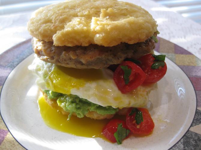 Parmesan-Cheddar Breakfast Biscuits
