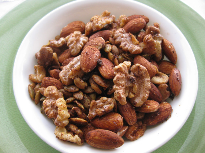 Sweet Chipotle Spiced Nuts