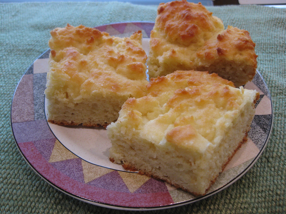 Light & Fluffy Low Carb. Biscuit Squares