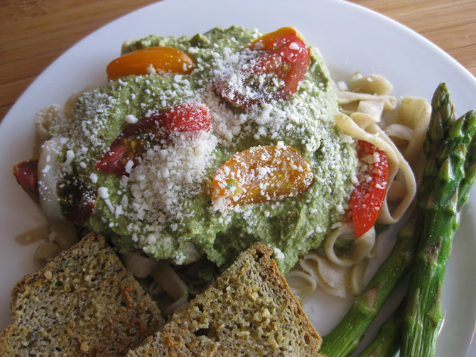 Pumpkin Seed & Garlic Pasta