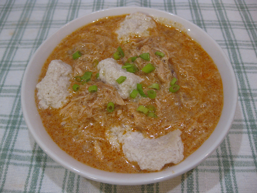 Keto Slow Cooker Hungarian Chicken Paprikash with Dumplings