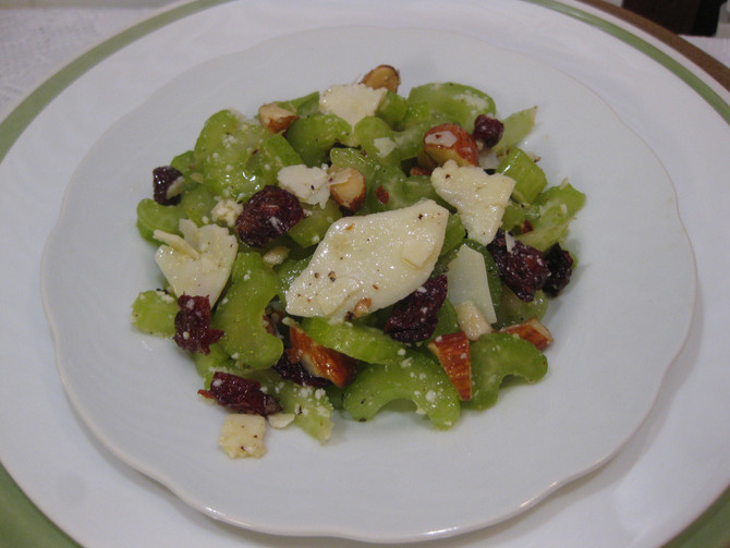 Celery, Cranberry and Almond Salad (with blueberry option)