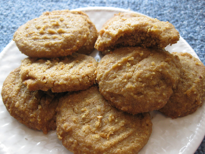 Peanut Butter & Flaxseed Cookies